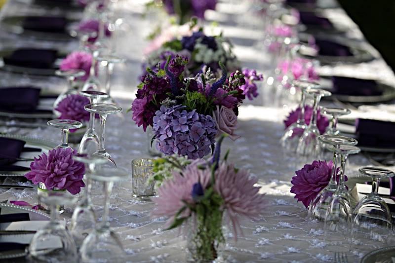 décor mariage violet mauve
