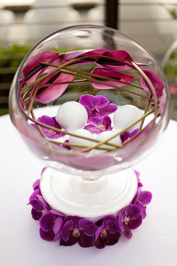 Thème mariage violet et blanc