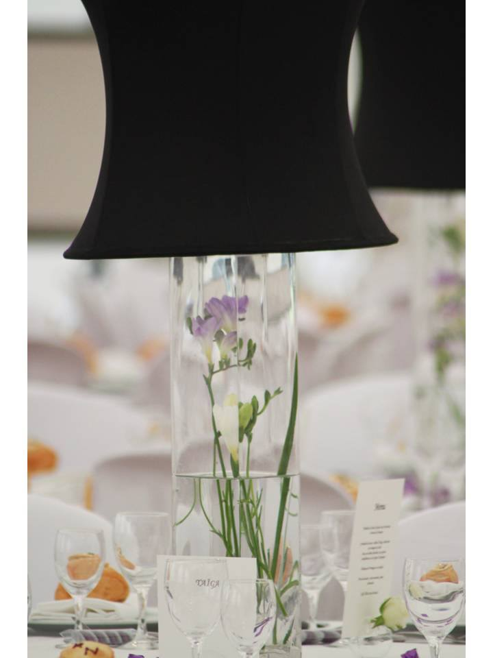 Centre de table vase abat-jour