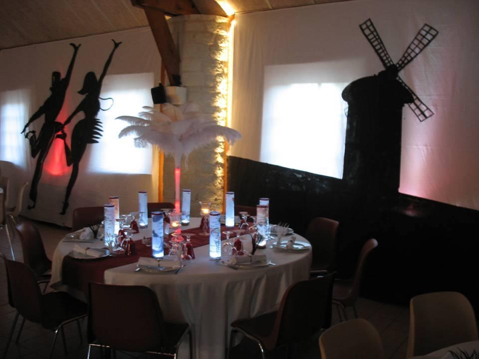 Centre de table plumes d'autruches
