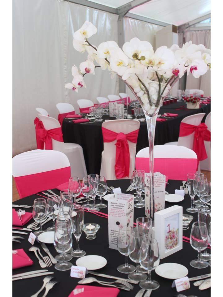 Serviettes de table rose fuchsia
