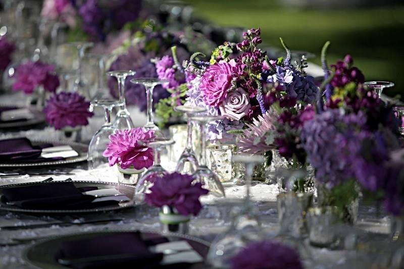 thème violet parme mariage