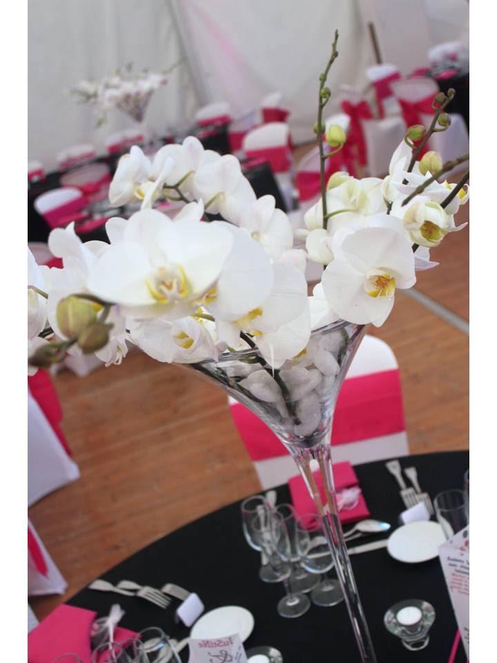 centre de table orchidées