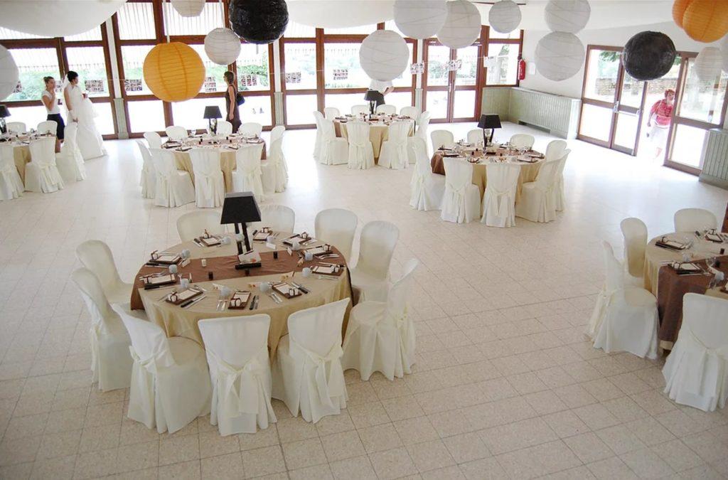 Décoration de salle de mariage au domaine de Givray