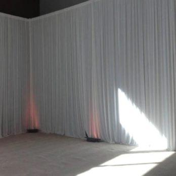 rideau blanc mariage
