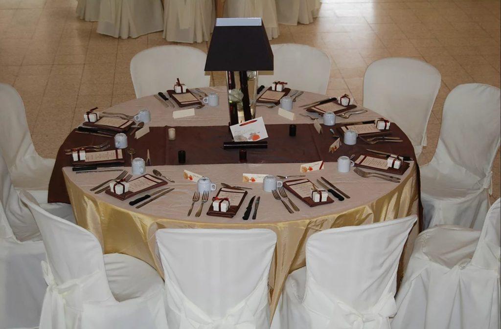 Centre de table abat-jour au domaine de Givray