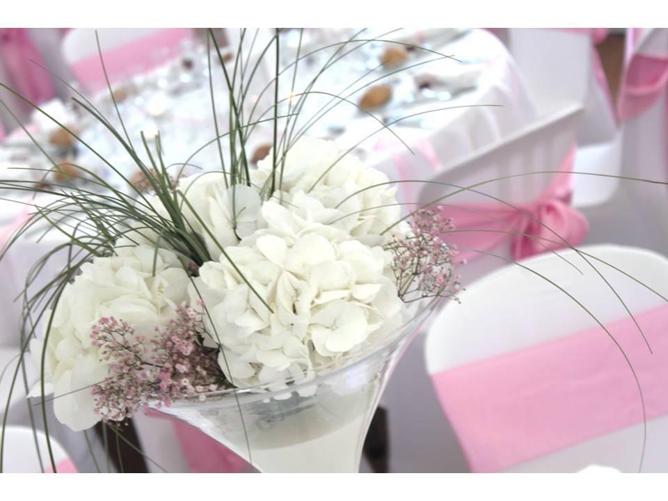 Hortensias blancs vase