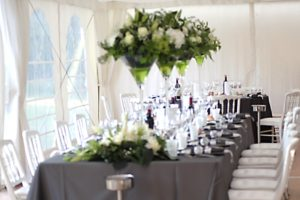 Décoration mariage vases martini