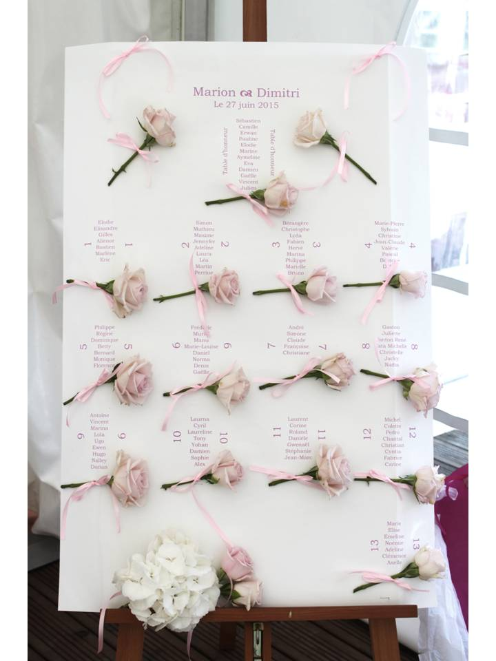 Mariage thème roses
