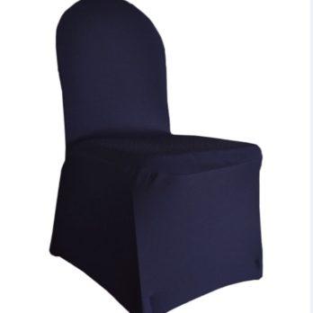 housse de chaise lycra bleu nuit