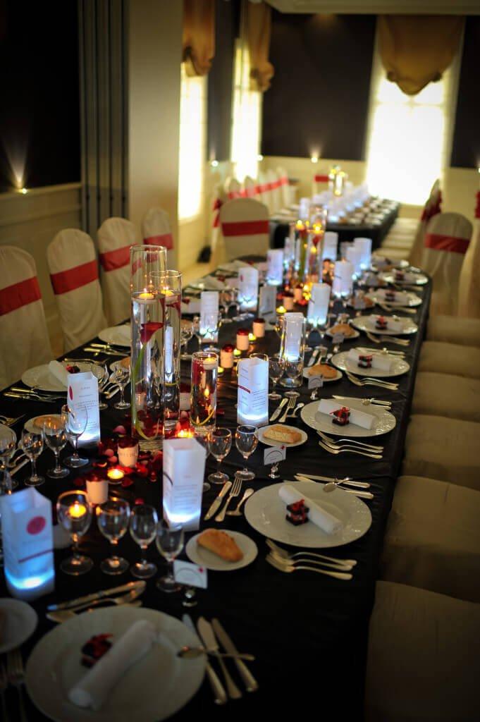 décoration mariage rouge et noire