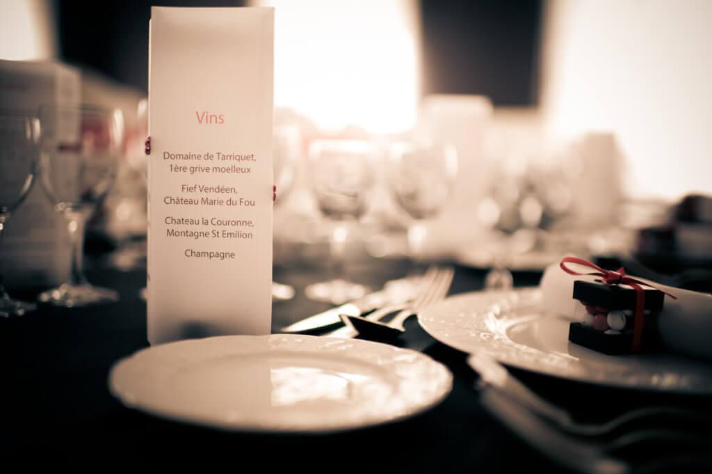 menu calque table mariage